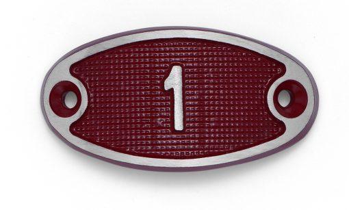 Schnalle Aluminium Fire Rot Nr. 1-0