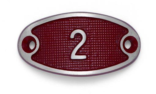 Schnalle Aluminium Fire Rot Nr. 2-0