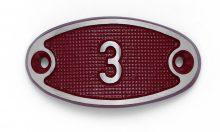 Schnalle Aluminium Fire Rot Nr. 3-0