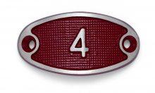 Schnalle Aluminium Fire Rot Nr. 4-0