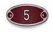 Schnalle Aluminium Fire Rot Nr. 5-0