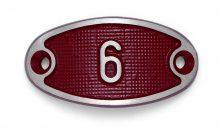 Schnalle Aluminium Fire Rot Nr. 6-0