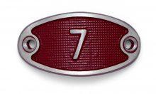 Schnalle Aluminium Fire Rot Nr. 7-0