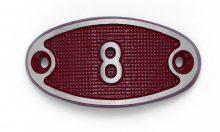 Schnalle Aluminium Fire Rot Nr. 8-0