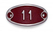 Schnalle Aluminium Fire Rot Nr. 11-0