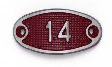 Schnalle Aluminium Fire Rot Nr. 14-0