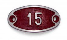 Schnalle Aluminium Fire Rot Nr. 15-0