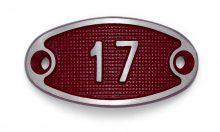 Schnalle Aluminium Fire Rot Nr. 17-0