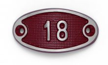 Schnalle Aluminium Fire Rot Nr. 18-0