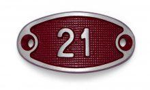 Schnalle Aluminium Fire Rot Nr. 21-0
