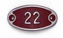 Schnalle Aluminium Fire Rot Nr. 22-0