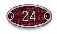 Schnalle Aluminium Fire Rot Nr. 24-0