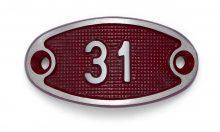 Schnalle Aluminium Fire Rot Nr. 31-0