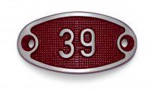 Schnalle Aluminium Fire Rot Nr. 39-0
