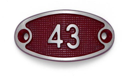 Schnalle Aluminium Fire Rot Nr. 43-0
