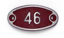 Schnalle Aluminium Fire Rot Nr. 46-0