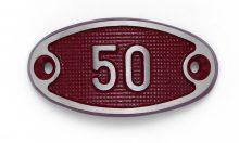 Schnalle Aluminium Fire Rot Nr. 50-0