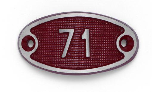 Schnalle Aluminium Fire Rot Nr. 71-0