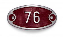 Schnalle Aluminium Fire Rot Nr. 76-0