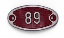 Schnalle Aluminium Fire Rot Nr. 89-0