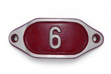 Schnalle Aluminium Hydro Rot Nr. 6-0