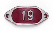 Schnalle Aluminium Hydro Rot Nr. 19-0