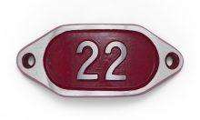 Schnalle Aluminium Hydro Rot Nr. 22-0