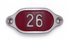 Schnalle Aluminium Hydro Rot Nr. 26-0