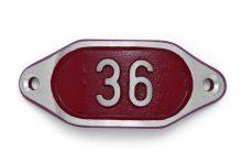 Schnalle Aluminium Hydro Rot Nr. 36-0