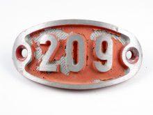Schnalle Aluminium Original Nr. 209-0