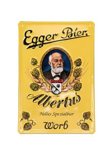 Egger Bier Metallschild Albertus-0