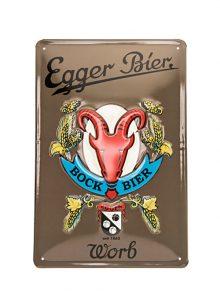 Egger Bier Metallschild Bockbier-0