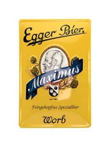 Egger Bier Metallschild Maximus-0